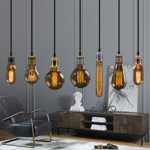 Vintage Edison E27 Lamp Socket Ceiling Pendant Cord Hanging  Light Bulb Fitting
