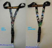Disney Trading Pin Neck Lanyard 26 Star Wars - Reversible Character/people