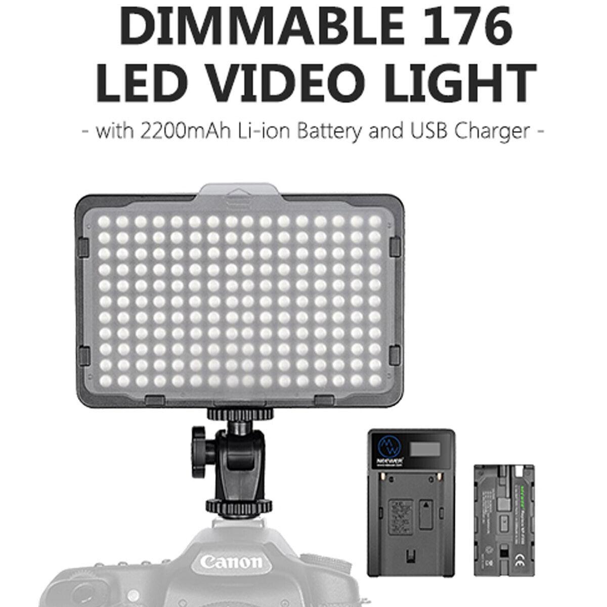 Neewer Photography 176 LED Camera Video Light Panel Studio for Canon Nikon Sony