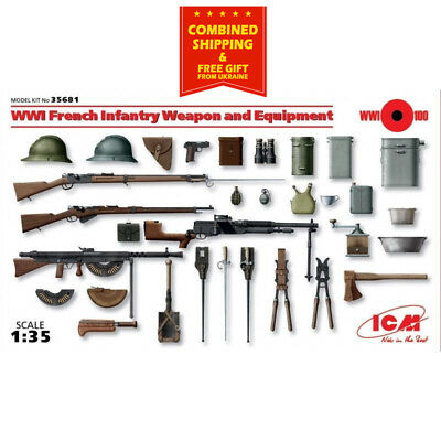 ICM Models WWI French Infantry Weapons//Equipment Model Kit