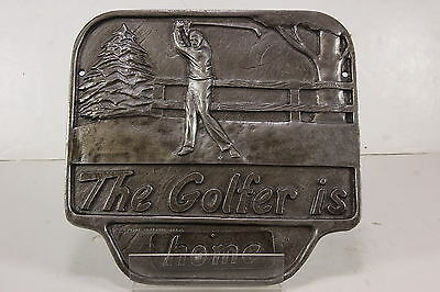 The Golfer is Golfing Aluminum Office Man Cave Sign 1992 Montague Metal
