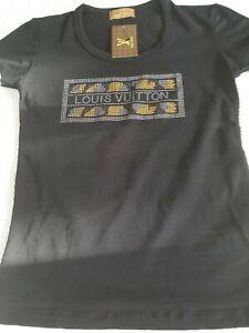 TEE SHIRT LOUIS VUITTON PARIS FEMME NOIRE TAILLE S