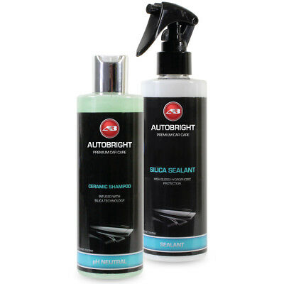 Autobright Ceramic Shampoo & Silica Spray Sealant Paint Protection Hydrophobic