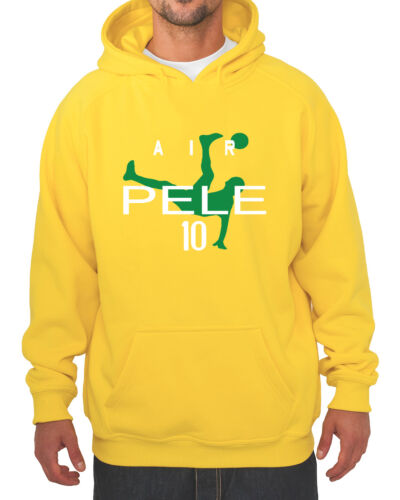 "Pele Brazil FIFA World Cup /""Air Pele/""  jersey  HOODED SWEATSHIRT"