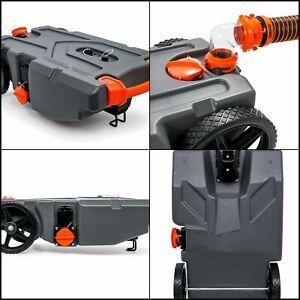 Camco Rhino Portable Rv Waste Holding Tank 28 Gallon Tote Hose Trailer 39004 Ebay
