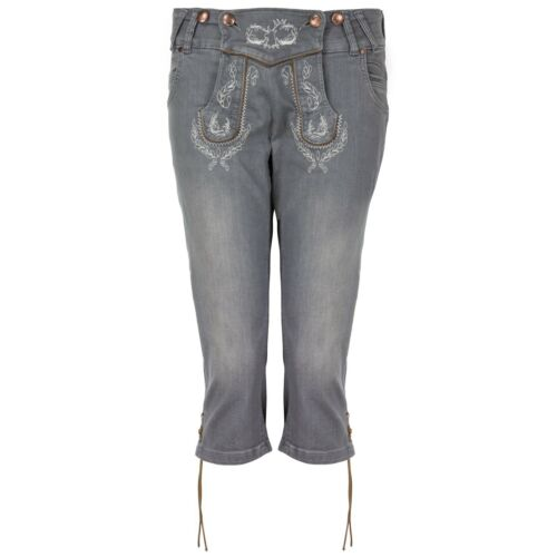hangOwear Damen Jeans Kniebund Kniebundhose Damenhose Jeanshose Trachten Hose