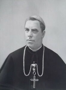 REVEREND-XAVIER-KATZER-Archbishop-of-Milwaukee-Portrait-1889-Antique-Print