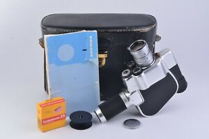 Exc Carena Zoomex 8mm Camera W Angenieux 7 5 35mm Zoom Lens Case Manual Nice Ebay