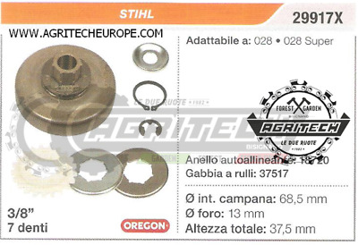 "Oregon 29917X  3//8/"" Pitch Sprocket Assembly Stihl 028 /& 028 Super Chainsaws"