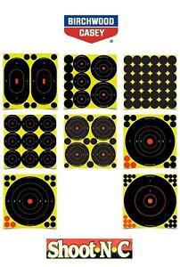 Birchwood-Casey-Shoot-N-C-cibles-TOUTES-LES-TAILLES-TIR-Airgun-fusil-de-chasse