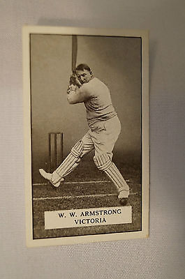 1926 - Vintage - Gallahers Cricket Card - W.W. Armstrong - Victoria.