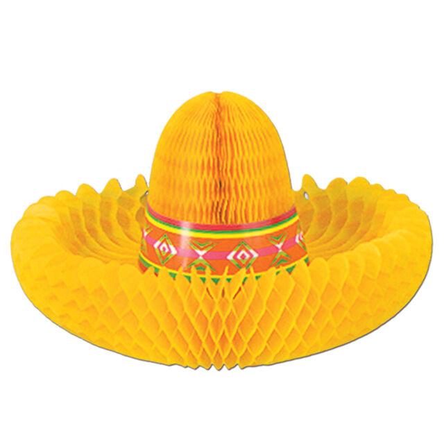 1 FIESTA Cinco de Mayo Party Decoration Tissue Hat CENTERPIECE SOMBRERO 12 inch