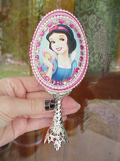 Decorated REAL Goose Egg Disney Snow White Princess Jewelry Gift Box Collectible
