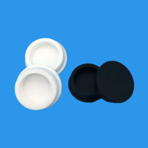 White//Black Silicone Rubber Blanking End Caps Inserts Plug Bung Stopper 15~37mm