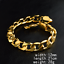 18K-Fashion-Men-Women-Gold-Plated-Wide-Rings-Bangle-Chain-Bracelet-Jewelry-12MM thumbnail 2