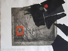 CLAVÉ ANTONI GRAVURE AU CARBORUNDUM 1975 SIGNÉE AU CRAYON HANDSIGNED ETCHING
