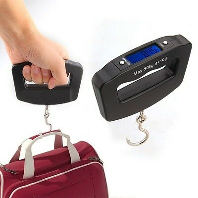 Pocket Portable Mini 50kg/10g LCD Digital Fish Hanging Luggage Weight Hook Scale