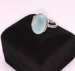 STERLING-SILVER-MINT-CHALCEDONY-RING-SIZE-7