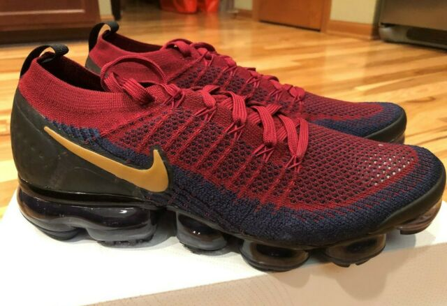 size 40 49738 30a80 Nike Air Vapormax Flyknit 2 Olympic Team Red Wheat Obsidian 942842-604 Size  7