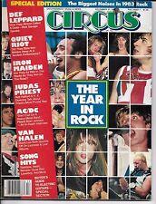 12/31/83 CIRCUS magazine Def Leppard AC/DC Judas Priest Iron Maiden Van Halen