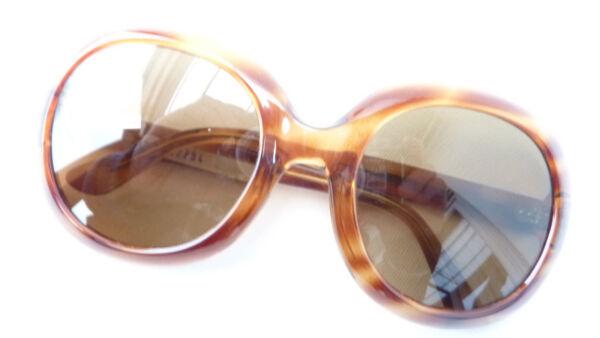 60s Rara Gafas De Sol Xxl Forma Para Señora Real Vidrio Comun En Cuerno óptica Talla L-ver