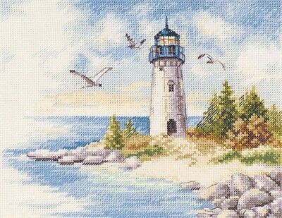 NEW UNOPENED Russian Counted Cross Stitch KIT Alisa 3-26 Lighthouse Sea Landscape