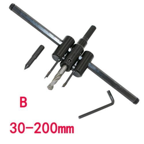 Réglable Cercle Trou Scie Cutter 30mm-200mm Bois Bricolage Alliage Acier