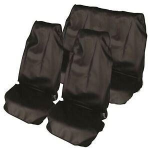 VOLKSWAGEN-Cubierta-de-asiento-de-Coche-Impermeable-Nailon-Set-Completo-Protector-Negro-delanteras-y