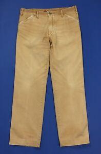 Avana-pantalone-uomo-usato-relaxed-gamba-dritta-w38-tg-52-boyfriend-T4292