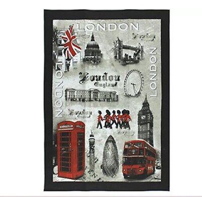 LONDON-WAHRZEICHEN DESIGN GESCHIRRTUCH LONDON BRITISCH ENGLAND-GROßBRITANNIEN