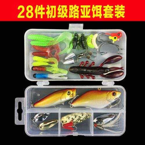 Lot 106pcs full tool Fishing Lures Crankbaits Hooks Minnow Baits Tackle box