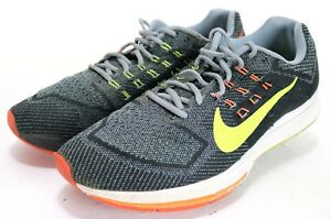 Nike Zoom Structure 18  90 Men s Running Shoes Size 12 Gray Black  c7c35cfb03e2