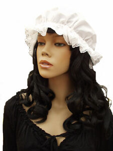 LACE-MOP-CAP-Victorian-Adult-Child-Colour-choice-UK-Made