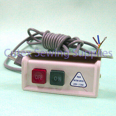 10A Mecion Push Button ON//Off Power Switch Box for Industrial Sewing Machine AC 380V //220V