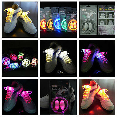 Night Light-up Shoelaces Glow Stick LED Shoes Lace String Dark Club Party Hot
