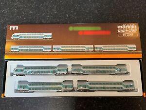 Marklin-spur-z-scale-gauge-Double-Deck-Passenger-Car-Set-MHI