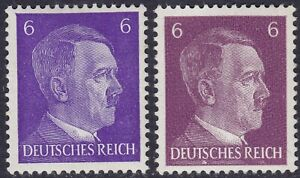 Stamp-Germany-Mi-785a-785b-Sc-510-1941-WW2-3rd-Reich-War-Hitler-BOTH-TYPES-MNH