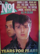 NO 1 (NUMBER ONE) MAGAZINE 26/11/83 - TEARS FOR FEARS - ADAM ANT - DURAN DURAN