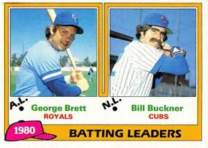 Details About 1981 Topps Baseball Cards Pick From List Includes Rookies 1 250