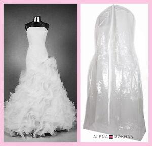 Monster huge extra large crystal clear vinyl wedding gown for Storing wedding dress in garment bag