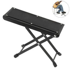 Guitar Foot Rest Adjustable Folding Height Angle Non-slip Rubber Pad 4 Position