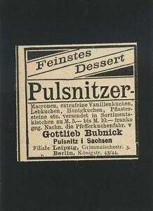 ANTIQUE-GERMAN-ACEO-SIZE-FOOD-GINGERBREAD-DESSERT-PULSNITZER-ADVERTISEMENT-PRINT