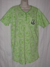 sz M KEROPPI NIGHTGOWN Green Frog Sleep Shirt Pajamas Hello Kitty Friend Sanrio