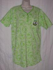 sz M KEROPPI NIGHTGOWN Green Frog Sleep Shirt Pajamas Hello Kitty Friend Sanrio