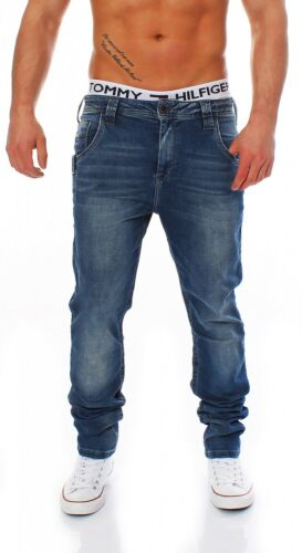 Slim Fit-Blu Da Uomo jogg Jeans Pantaloni Cipo /& Baxx-c-1194
