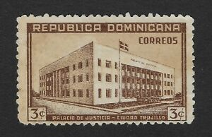 Dominican-Republic-Stamp-1946-Scott-420-A93-3c-Palacio-De-Justicia-Used-BX6