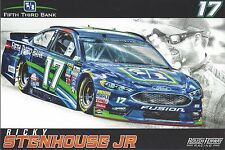 2017 RICKY STENHOUSE JR FIFTH THIRD BANK 5/3 #17 MONSTER ENERGY NASCAR POSTCARD