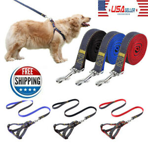 Adjustable-No-Pull-Dog-Harness-Cat-Dog-Vest-amp-Leash-Tactical-Walking-Outdoor-US