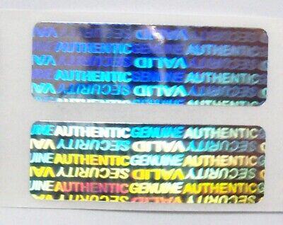 "100 CUSTOM PRINT Hologram Security Protection SVAG Label Sticker Seals 1//2/"" x 1/"""