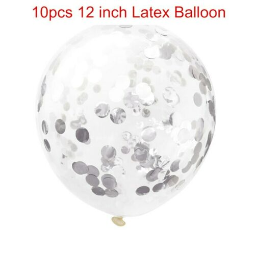 21pcs Gold Black Marble Confetti Balloons Baby Shower Photography Props